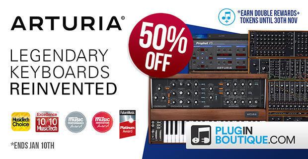 Get 50% OFF Arturia Plugins @ Pluginboutique!