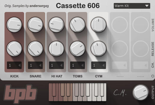 This awesome bundle of Cassette Drums plugins is 100% free