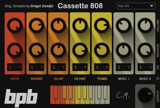 bpb cassette drums free drum machine vst au plugin bundle bedroom producers blog. Black Bedroom Furniture Sets. Home Design Ideas