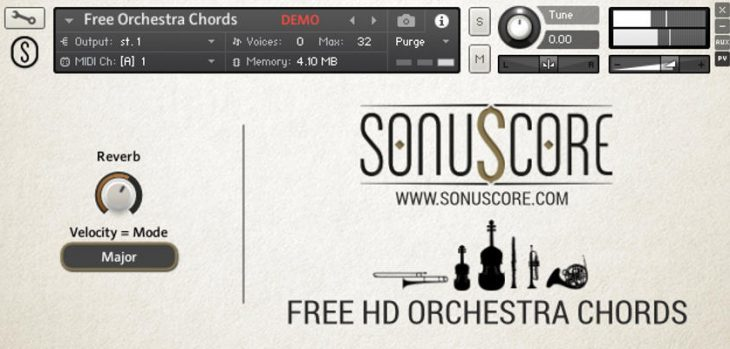 Free Orchestra Chords Kontakt Library Released By Sonuscore (WAV)