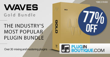 Get 77% OFF Waves Gold Bundle @ Pluginboutique!