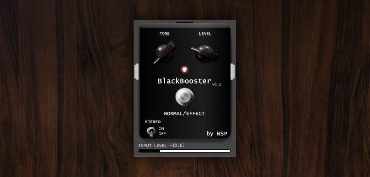 Free BlackBooster Boost Pedal VST Plugin