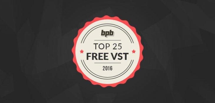 Top 25 Free VST Plugins Of 2016
