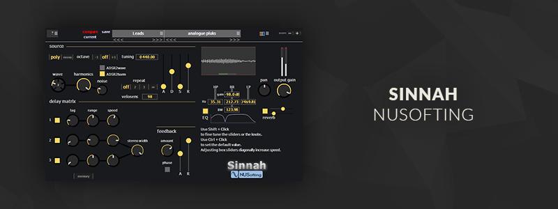 Sinnah by NUSofting (VST/AU Plugin)