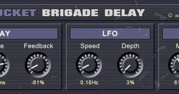 Full Bucket Brigade Delay VST Plugin For Windows
