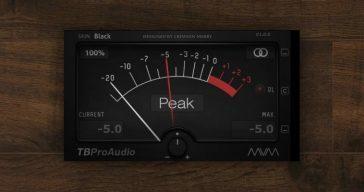 Free mvMeter VST/AU Plugin by TBProAudio.
