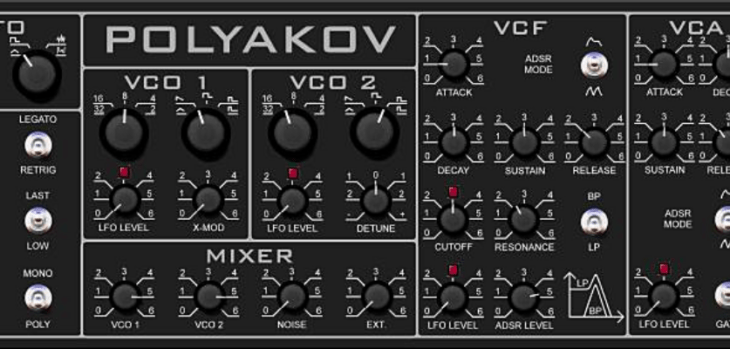 Music-Society Releases Free Polyakov Synthesizer VST Plugin For Windows