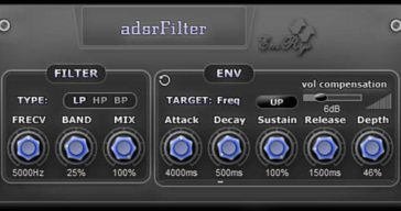 SaschArt Releases Free AdsrFilter VST Plugin For Windows