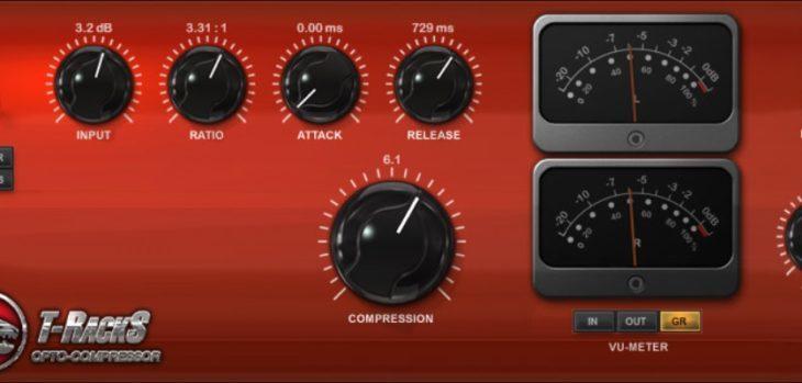 IK Multimedia T-RackS Opto Compressor Is FREE (Ends Feb 16th)!