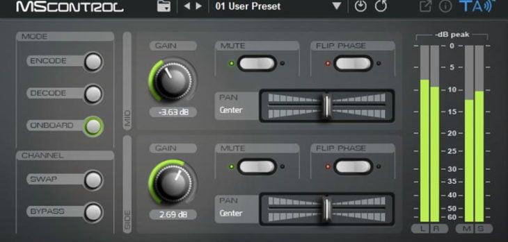 Tek'it Audio Releases Free MScontrol M/S Utility VST/AU Plugin