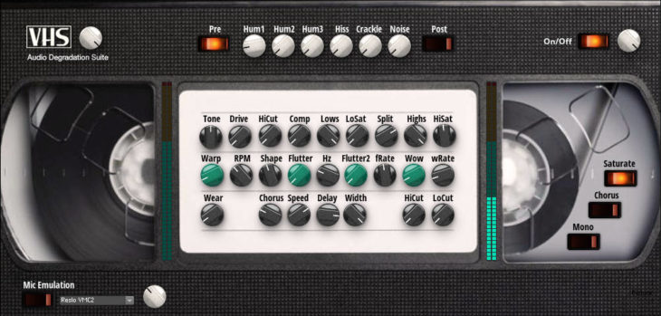 James Peck Intros Free VHS Audio Degradation Suite For NI Reaktor