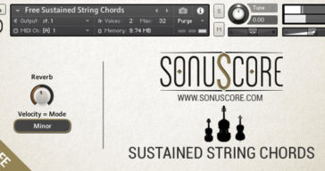 Sonuscore Releases Free Sustained String Chords For NI Kontakt