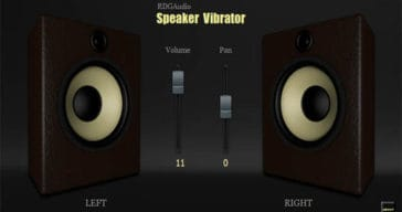 RDGAudio Releases Free Speaker Vibrator Audio Visualizer VST Plugin