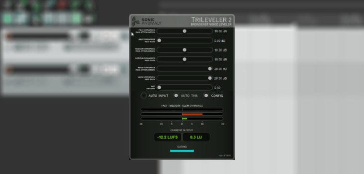 Sonic Anomaly Releases Free TriLeveler 2 Voice Leveler VST Plugin