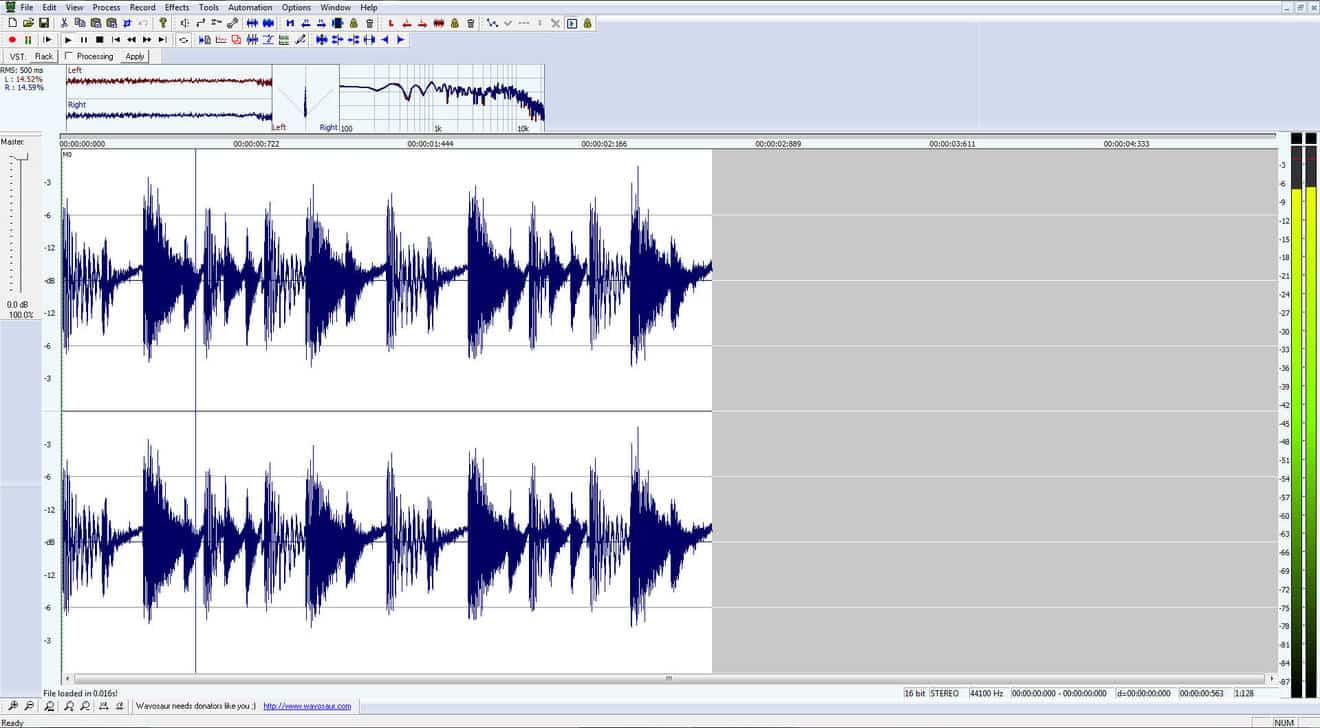 Wavosaur - Free Audio Editing Software