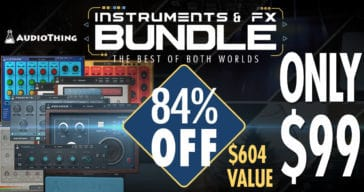 Get 84% OFF Complete AudioThing Bundle @ Audio Plugin Deals