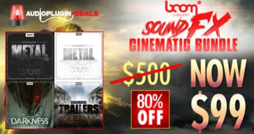 Get 80% OFF BOOM Library Sound FX Cinematic Bundle