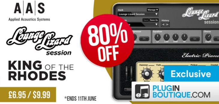Get 80% OFF AAS Lounge Lizard Session @ Pluginboutique!