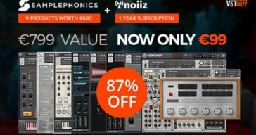 87% OFF Samplephonics & Noiiz Deal @ VSTBuzz (€799 value)