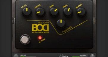 TSE Audio Releases Free TSE BOD 3 Bass Overdrive VST/AU Plugin