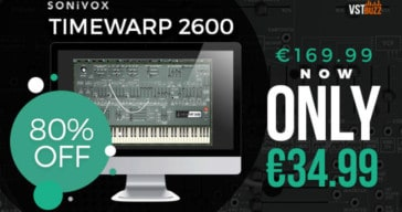 Get 80% OFF TimewARP 2600 Synthesizer @ VSTBuzz (VST/AU/RTAS)