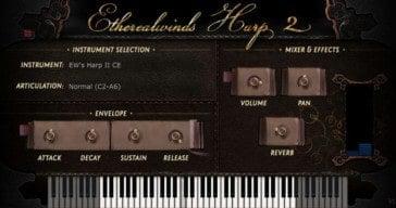 Versilian Studios Releases Free Etherealwinds Harp II CE