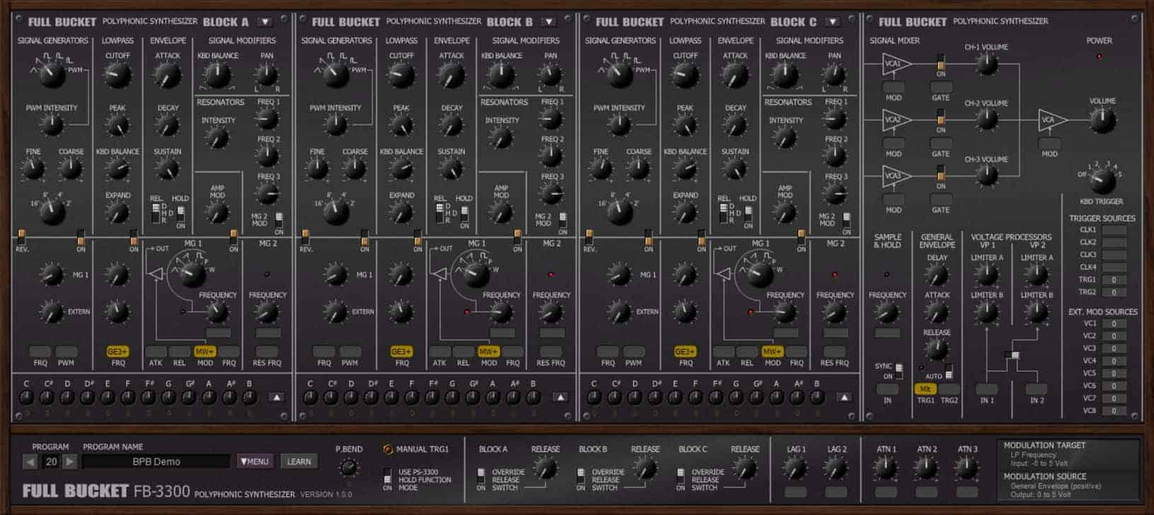 Free KORG PS-3300 Emulation VST/AU Plugin Released By FBM - Bedroom