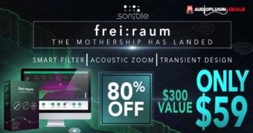 Get 80% OFF SONIBLE frei:raum Intelligent EQ @ AudioPluginDeals