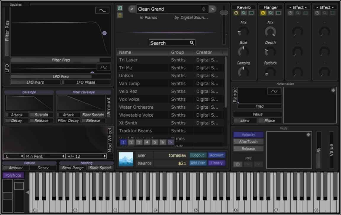 Get Stagecraft's Infinity Synthesizer For FREE @ Reverb - Bedroom