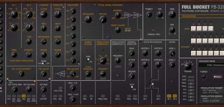 Free Korg PS-3200 VST Plugin Released By Full Bucket Music