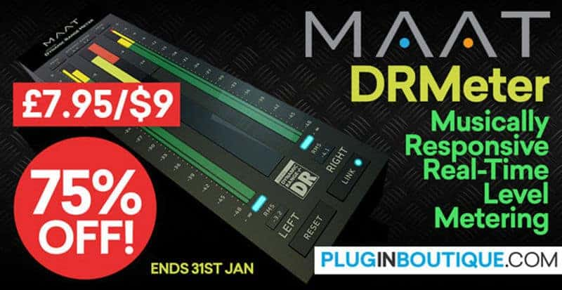 Get 75% OFF DRMeter By MAAT @ Pluginboutique ($9 Sale Price