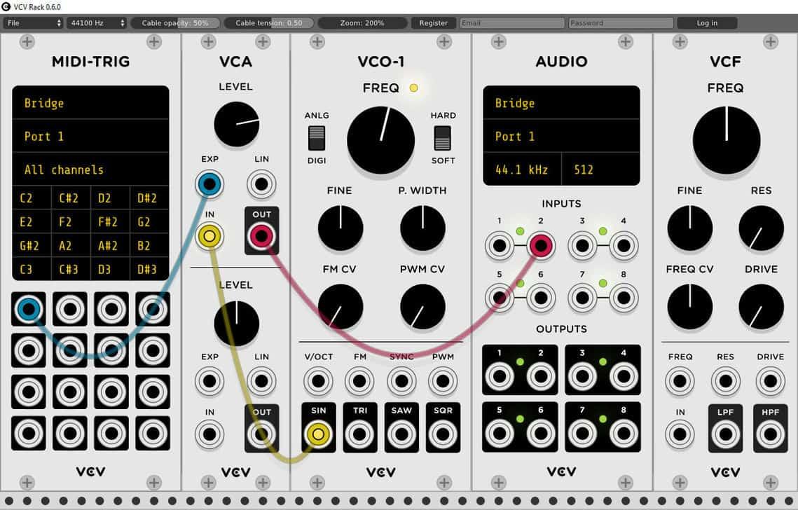 ¡El sintetizador modular sin bastidor VCV ahora se conecta a su DAW!