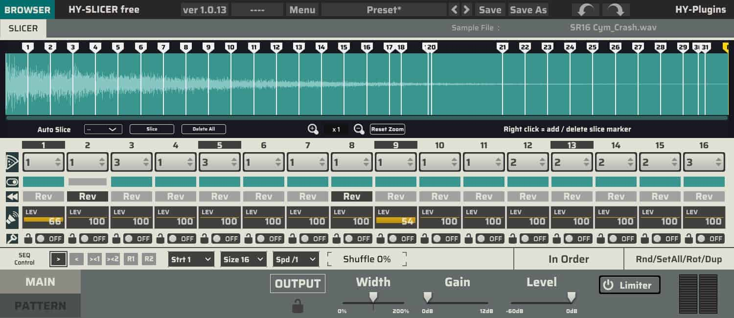 HY-Slicer Is A FREE Loop Slicer VST/AU Plugin By HY-Plugins