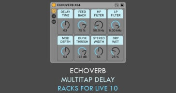 Free EchoVerb Multi-Tap Delay For Ableton Live By Sound Author