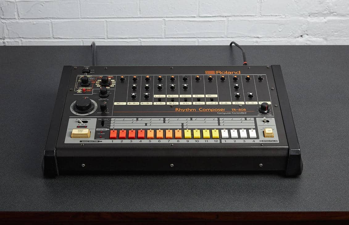 The sampled 808 drum machine is a real beauty.