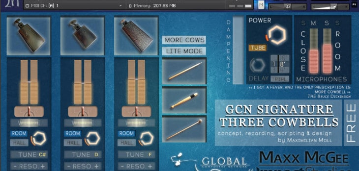 Free Cowbells Sample Library For NI Kontakt By Maxx McGee
