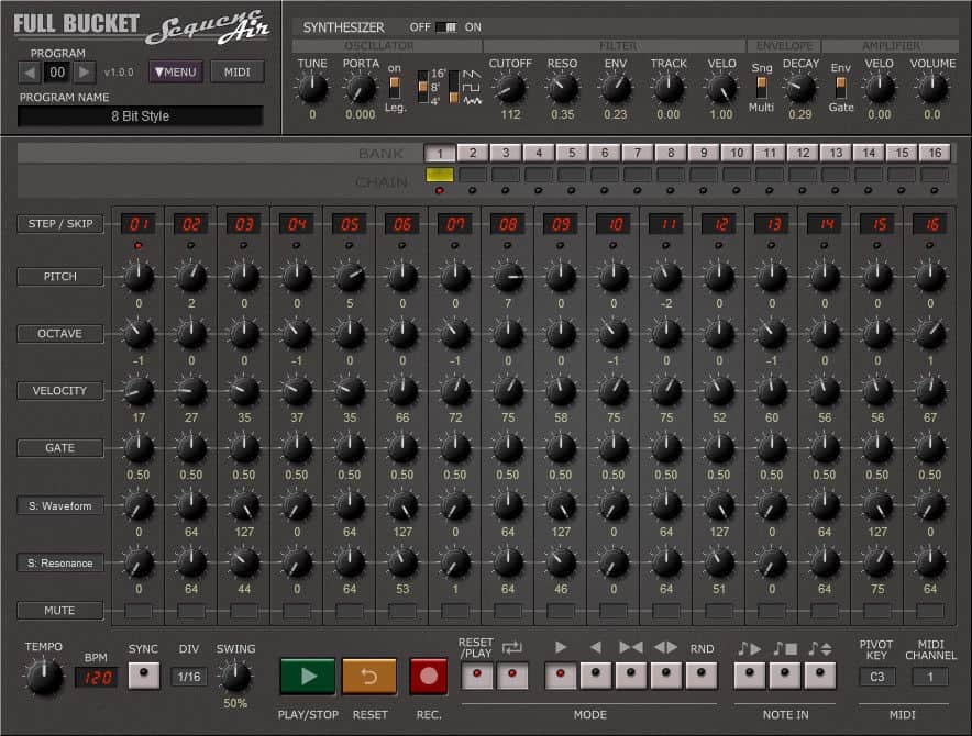 sequencair is a free sequencer vst plugin by full bucket music bedroom producers blog. Black Bedroom Furniture Sets. Home Design Ideas