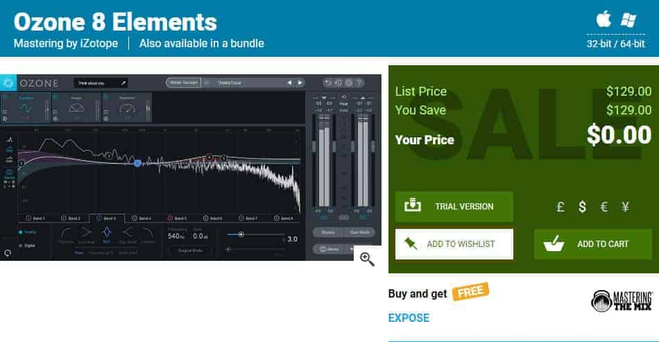 iZotope Ozone 8 Elements Mastering Suite Is FREE Until September 30th