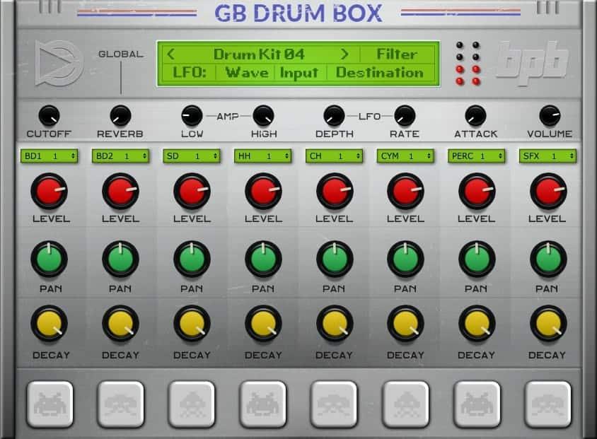 GB DrumBox Is A FREE Game Boy VST Plugin