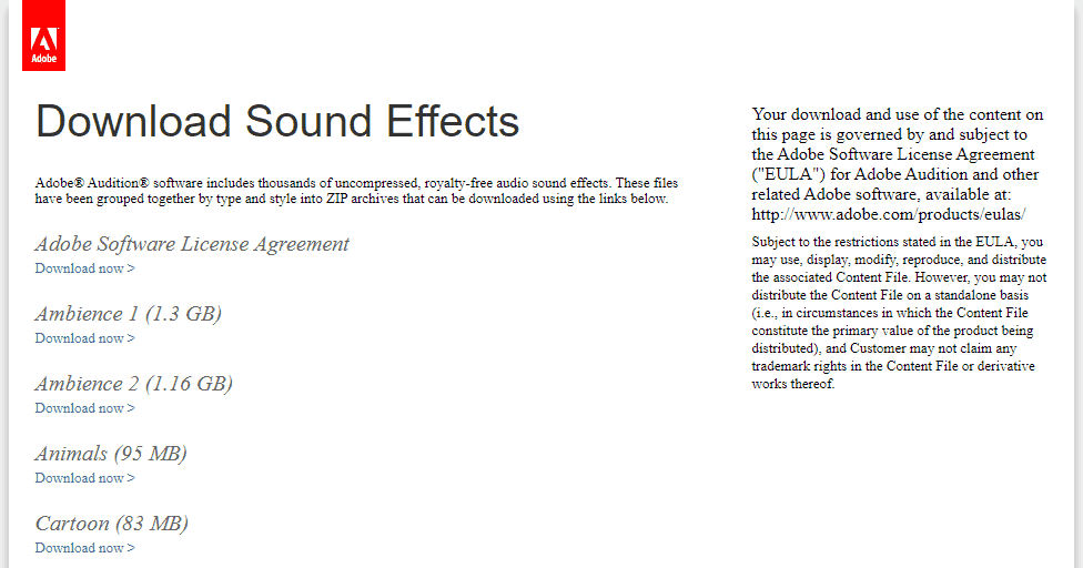 Adobe Audition Sound Effects