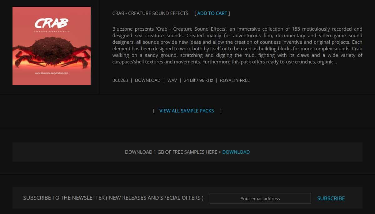 Free Sound Effects by Bluezone Corporation