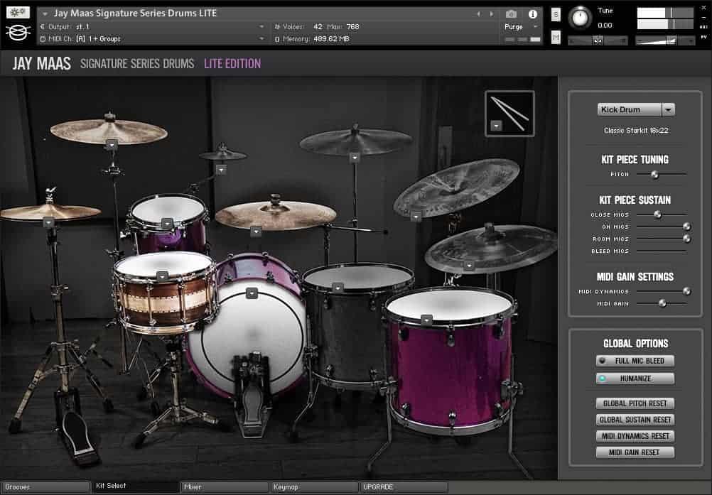 Jay Maas Signature Series Drums LE (Room Audio)
