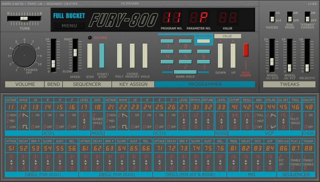 Fury-800 Is A FREE Korg Poly-800 Emulation VST/AU Plugin - Bedroom Producers Blog
