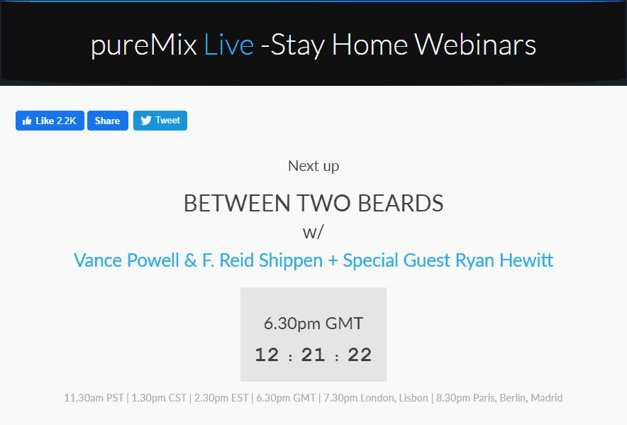 Puremix Stay Home Webinars