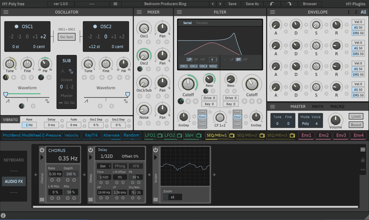 HY Plugins Releases HY-Poly FREE Virtual Synthesizer - Bedroom Producers Blog