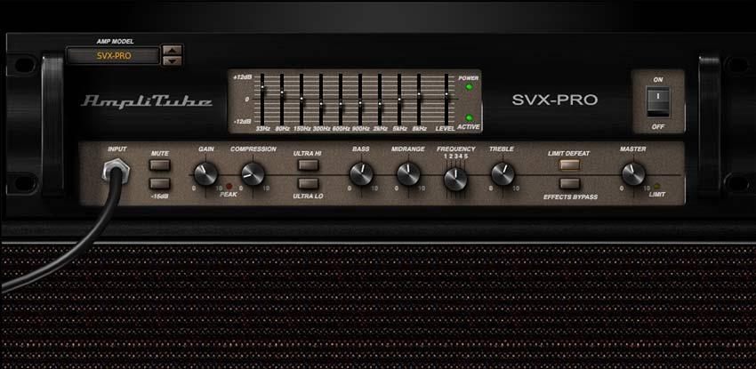 The Ampeg SVT-4PRO model in AmpliTube SVX.