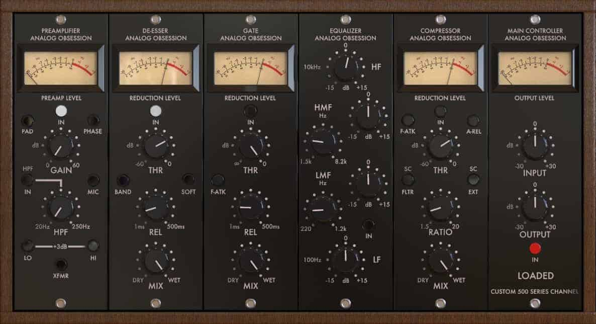 Loaded Is A FREE Channel Strip VST/AU Plugin By Analog Obsession - Bedroom Producers Blog