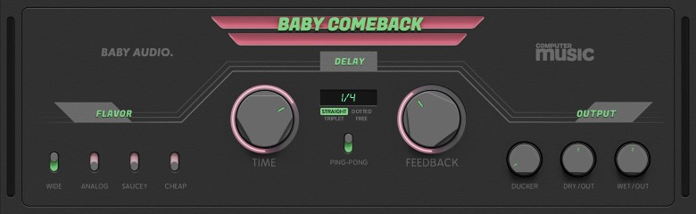 Here's a closer look at the Baby Comeback user interface.