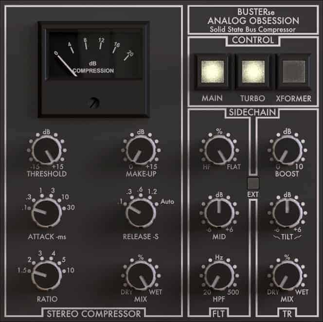 BUSTERse comes with a nice-looking GUI that resembles hardware compressors.