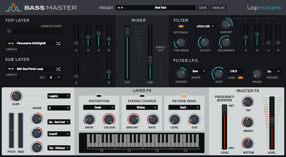 Bass Master is a versatile virtual insturment for bass sounds.